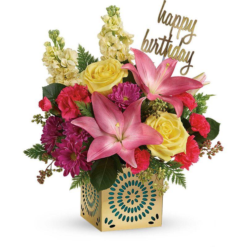 Telefloras Blooming Birthday Bouquet Alpharetta GA Florist