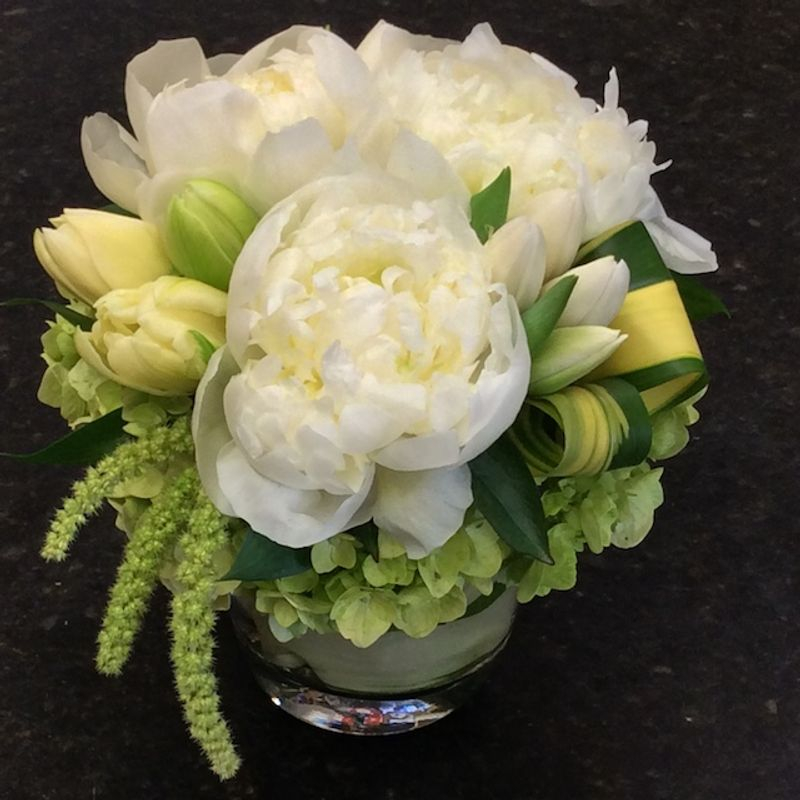 Sweet white peonies best local florist in redondo beach palos more views mightylinksfo