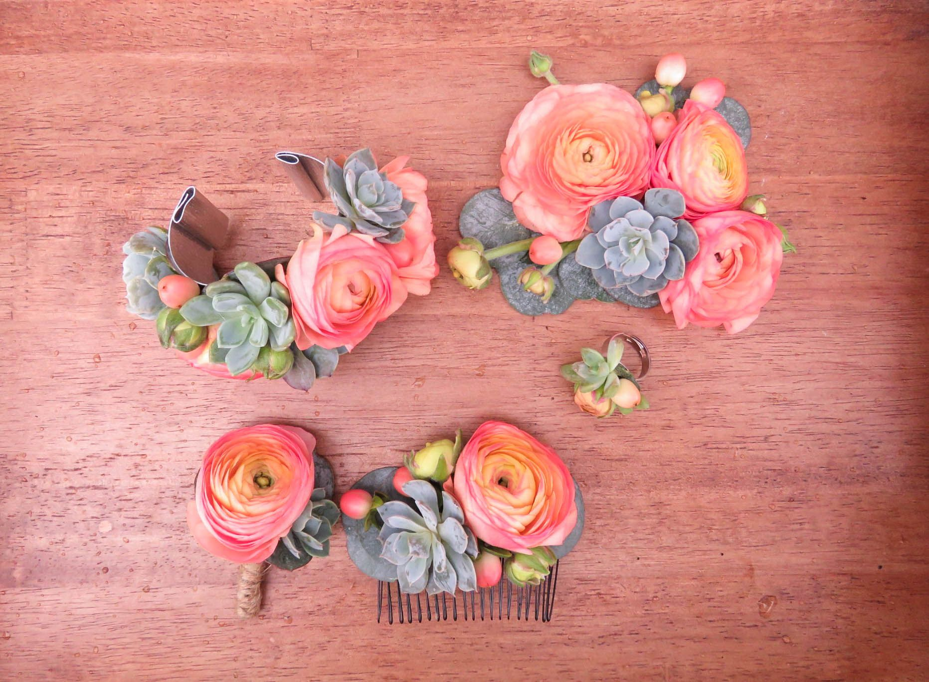 Ranunculus And Succulent Tattoo Room To Bloom Local Flower Shop Keswick On