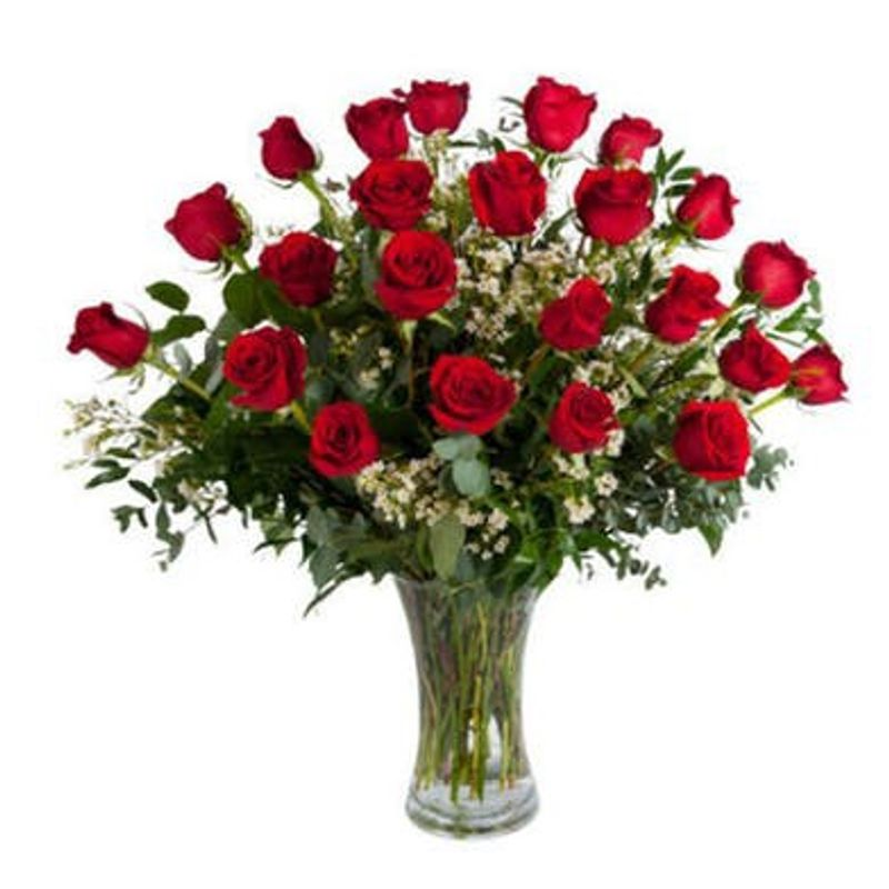 2 Dozen Roses Backyard Garden Florist Roseboro Nc