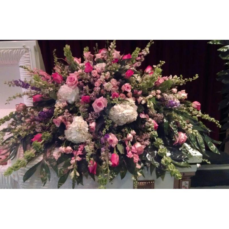 Angelic Casket Spray Backyard Garden Florist Roseboro Nc
