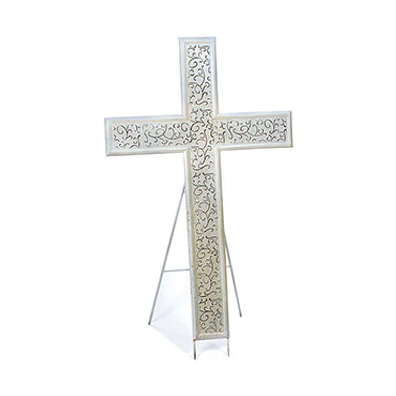 Sympathy Cross W Easel Backyard Garden Florist Roseboro Nc