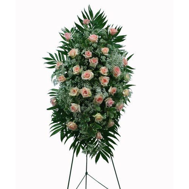 Peaceful In Pink Sympathy Spray Backyard Garden Florist Roseboro Nc