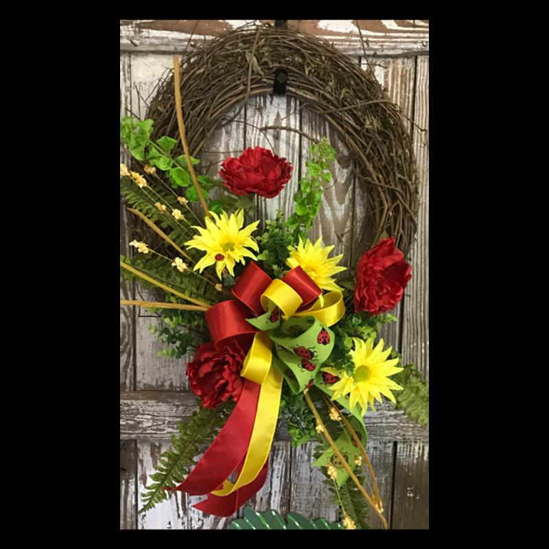 Keepsake Door Wreath Backyard Garden Florist Roseboro Nc