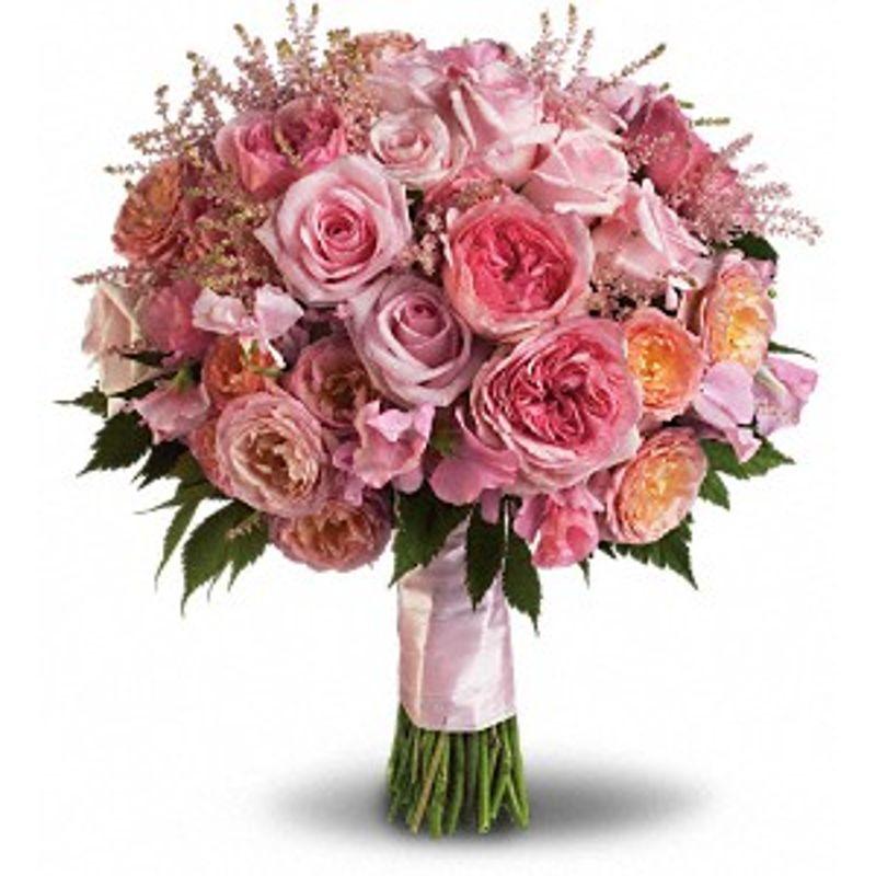 PINK ROSE GARDEN BOUQUET Santos Florist