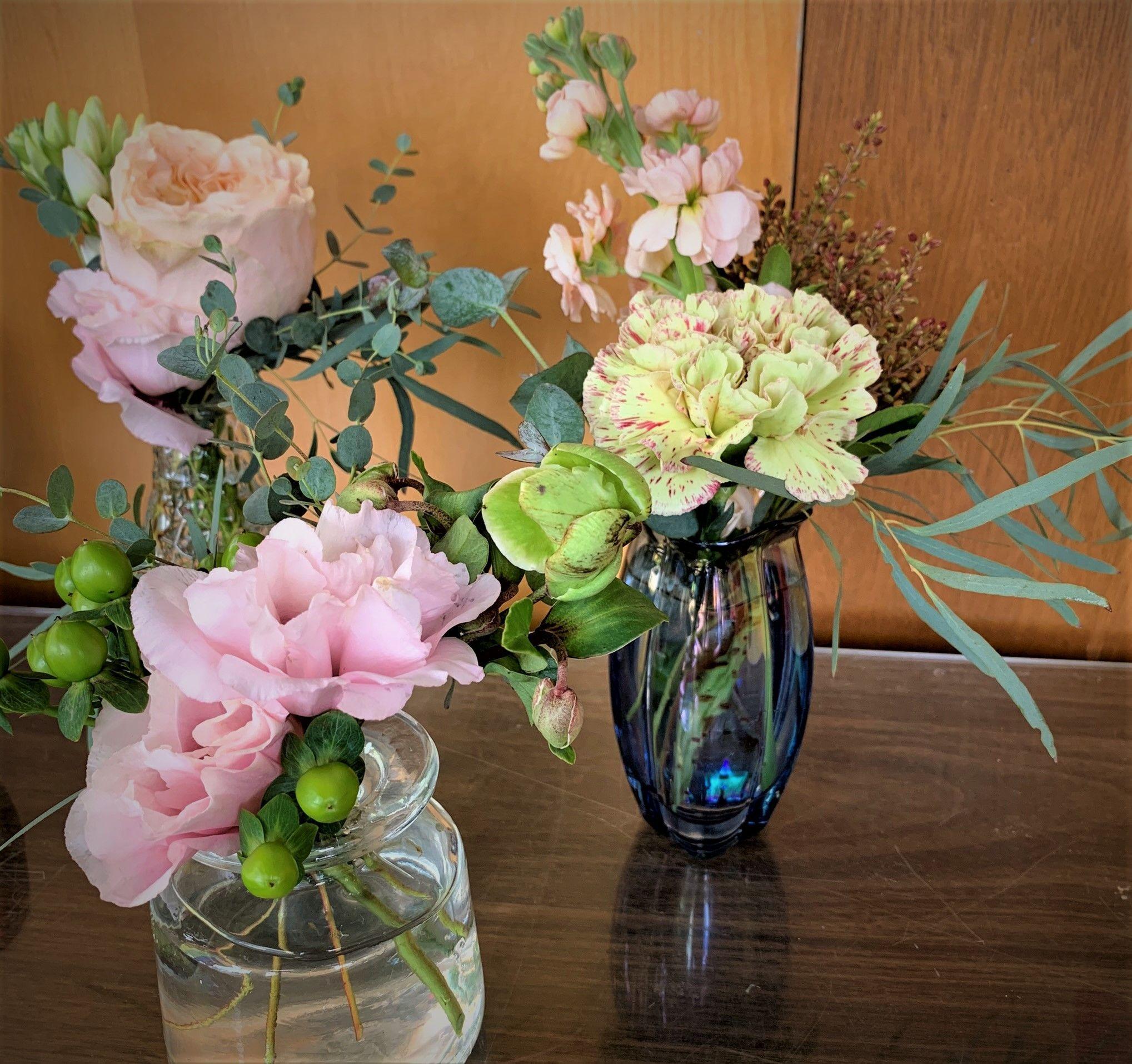Mini Vase Trio Seattle Florist: Flower Lab | Local Flower ...