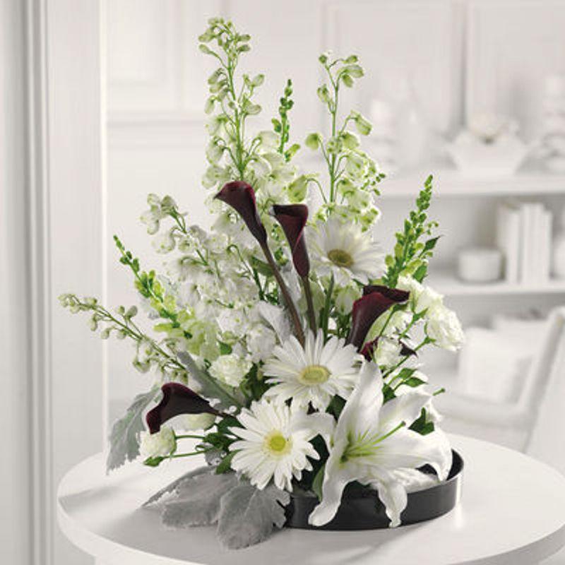 Black And White Style Sequoia Plaza Flowers Visalia Ca Local