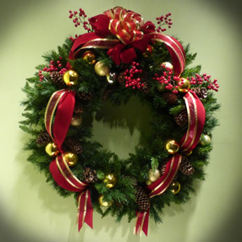 Wi Ch Fresh Wreath Designers Choice St Louis Mo Florist