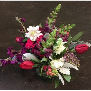 Spring flowers jh flower boutique jackson hole wy 83001 red and purple in jackson wyoming jh flower boutique shop and events mightylinksfo