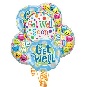 Get Well Soon! Balloon Bouquet
