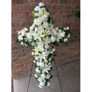 Serene Sympathy Cross in Dallas TX, Lake Highlands Flowers