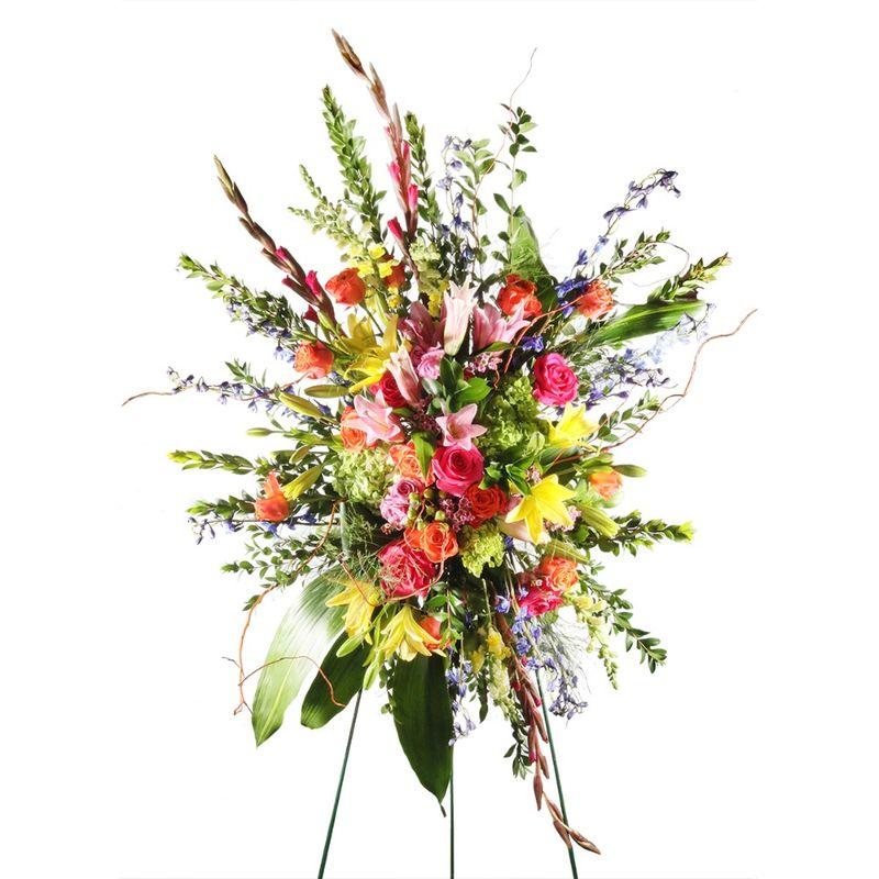 Celebration Of Life Standing Spray Starkville Top Quality Florist