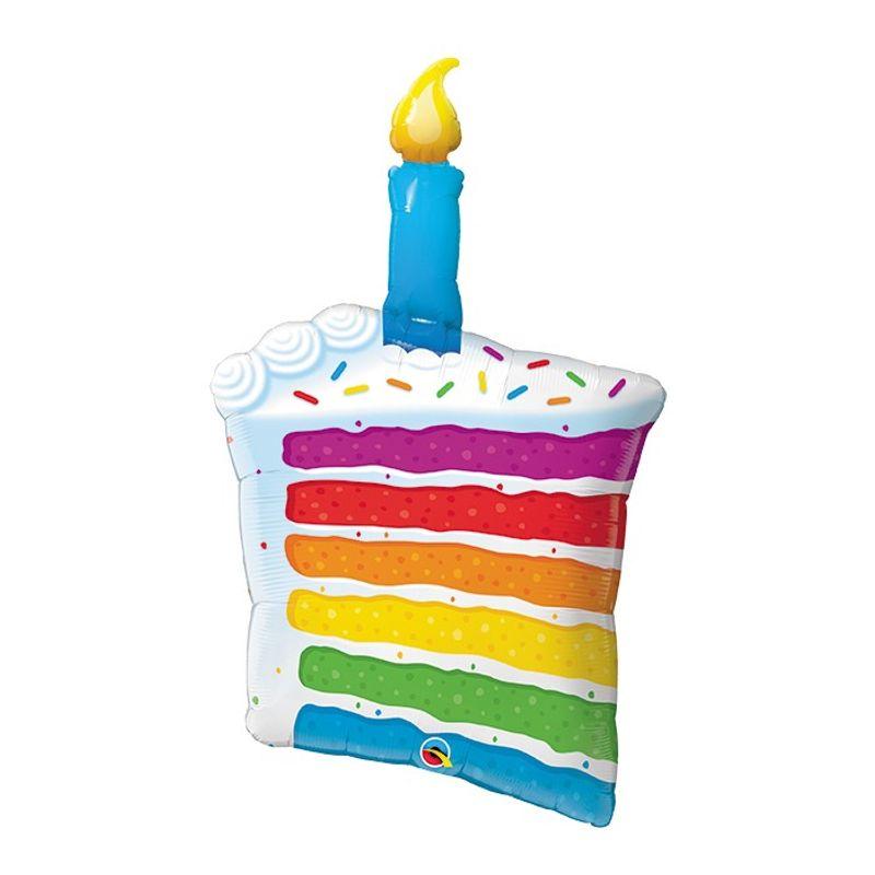 Description 42 Happy Birthday Rainbow Cake Mylar Balloon