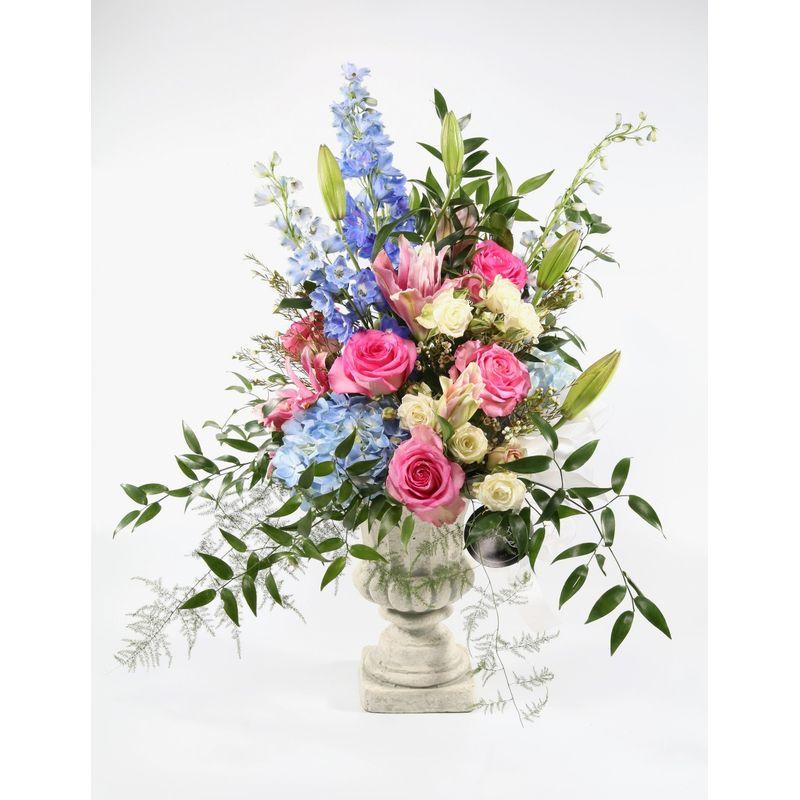 Rose Tribute Arrangement With Urn Starkville Top Quality Florist