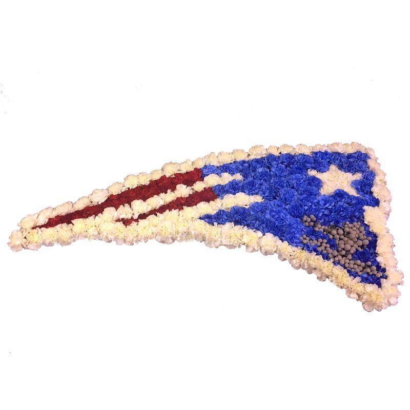 New England Patriots Arrangement Studio 27 Flowers Taunton Ma