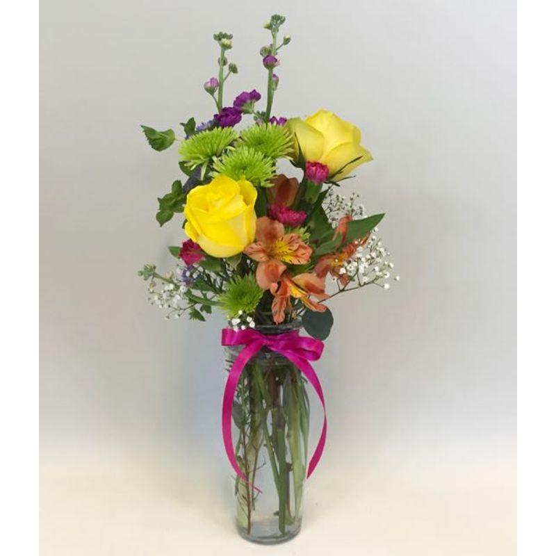 Birthday Bud Vase Sunnycrest Flowers Lowville New York 13367florists