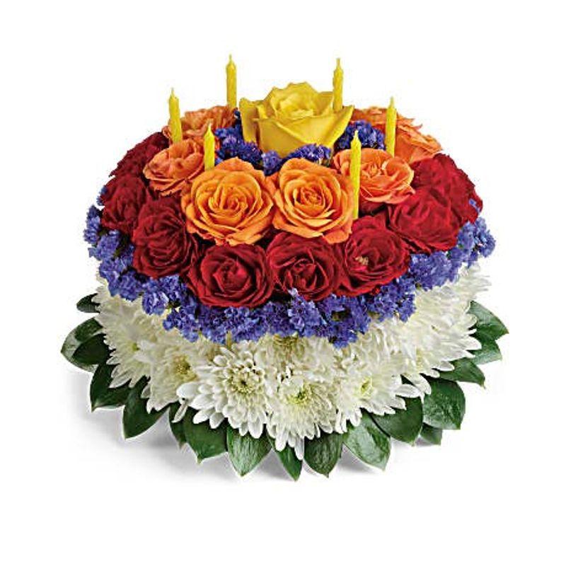 Blooming Birthday Cake Bouquet Oldsmar Florist
