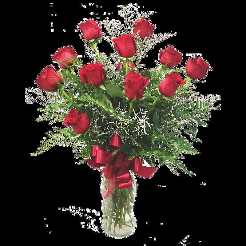 12 Roses In A Vase Enchanted Florist Taos Taos Nm Flower Shop