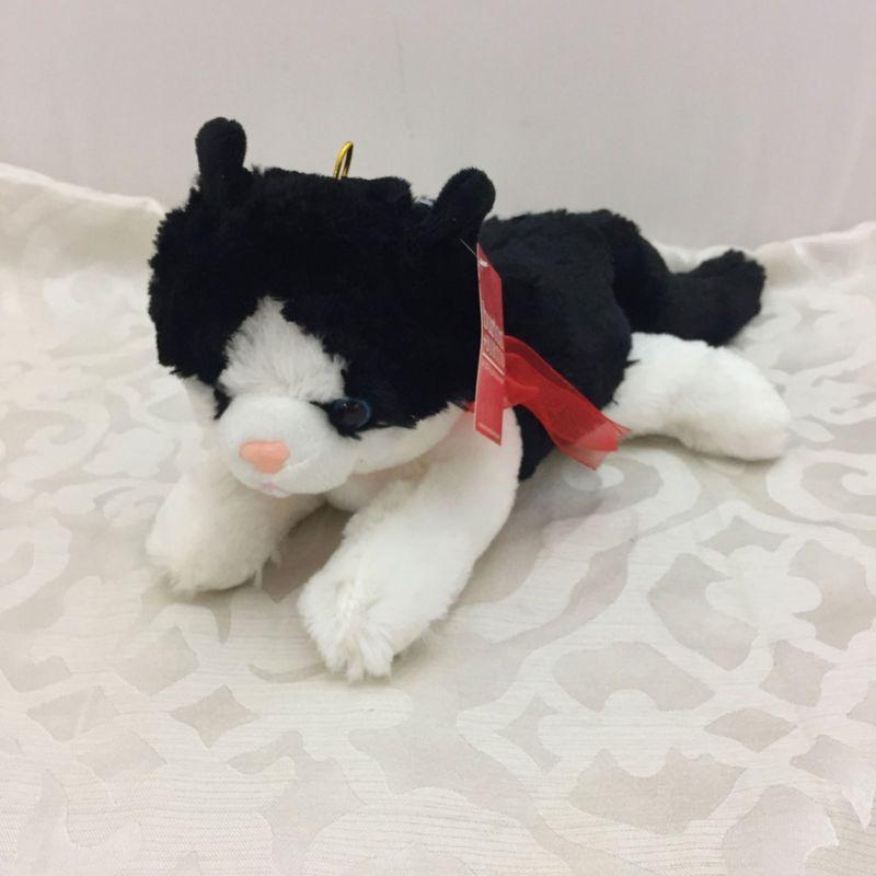 Black And White Cat Stuffed Animal Terra Flora Rosenberg