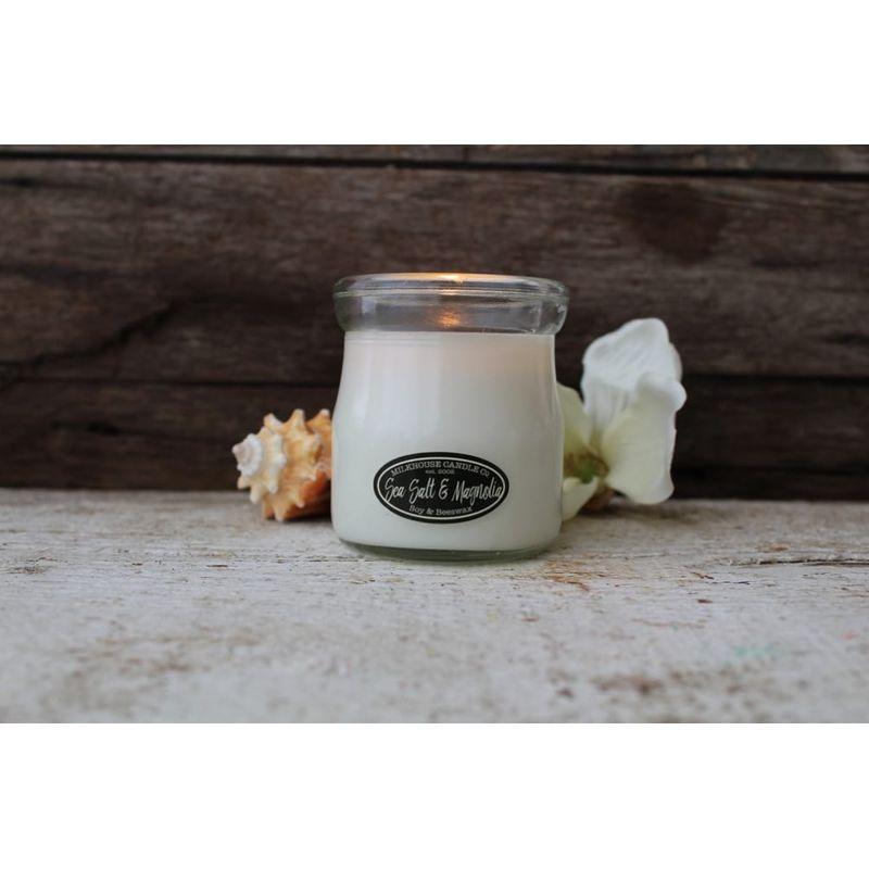 Milkhouse Cream Jar Candle In Sea Salt And Magnolia Scent The Urban