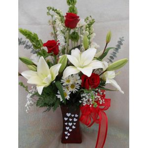Hearts Afire Bouquet in Tyler TX, The Flower Box