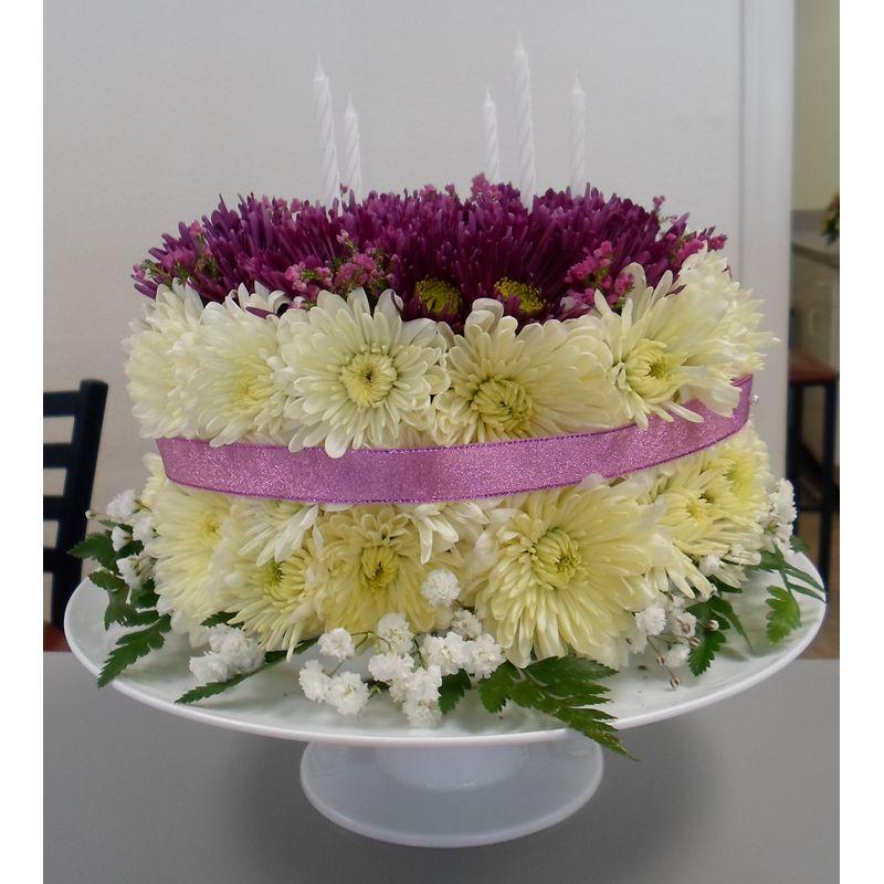 Flowered Birthday Cake 1