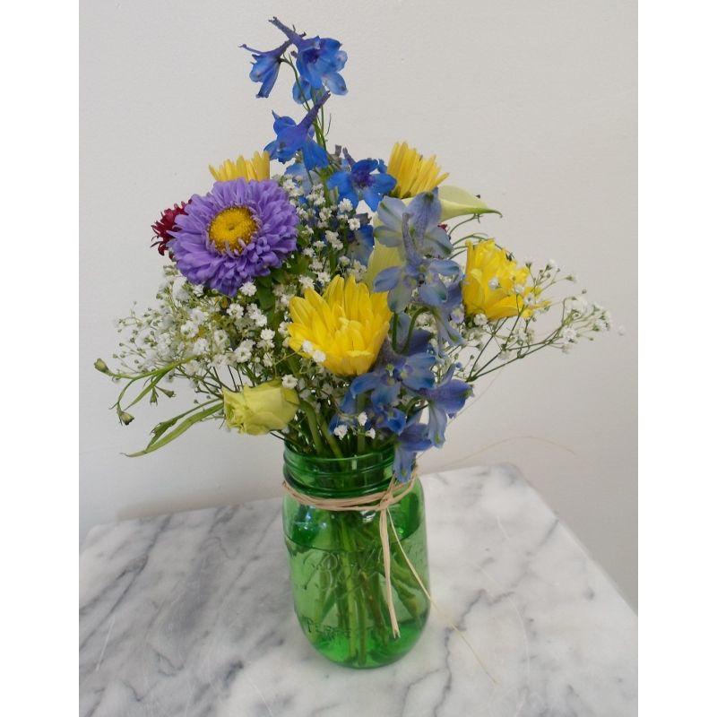Fresh Flowers In Mini Mason Jar The Flower Shoppe