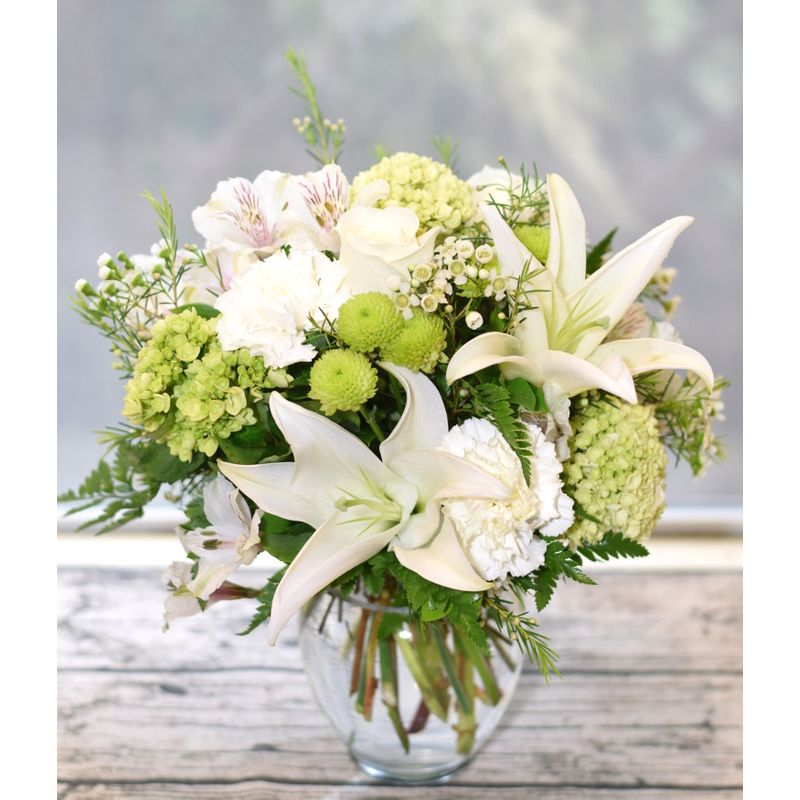 E120 White Serenity The Garden Gate - Yuba City, CA | Local Florist