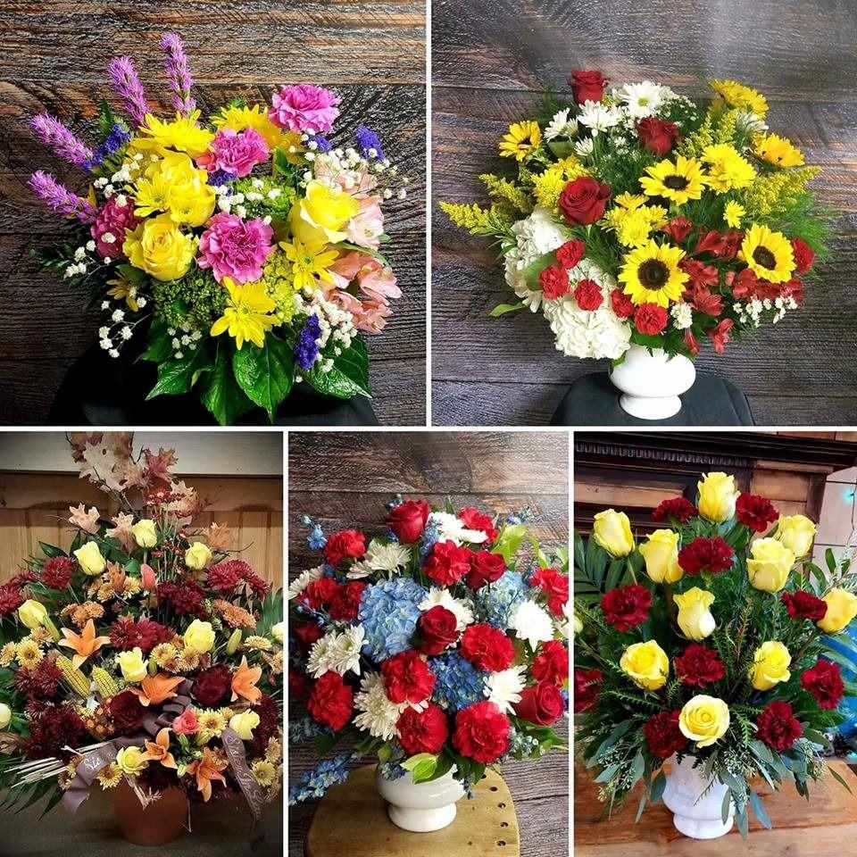 You Pick Color Combo Memorial Flower Spray Hoopeston Il Florist