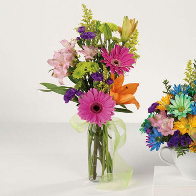 Birthday Bud Vase Benzonia Michigan Florist Victorias Floral Design