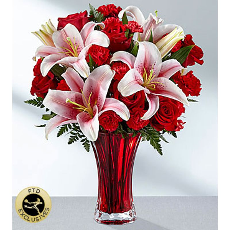 The Ftd Perfect Impressions Bouquet Vase Included Sandys Floral