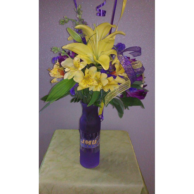 Jmu Mix Vase Sandys Floral Gallery Wytheville Va 24382 Florist