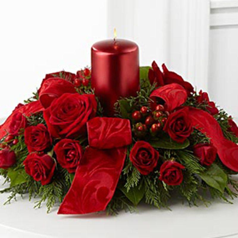 Ftd season s glow™ centerpiece hill florist