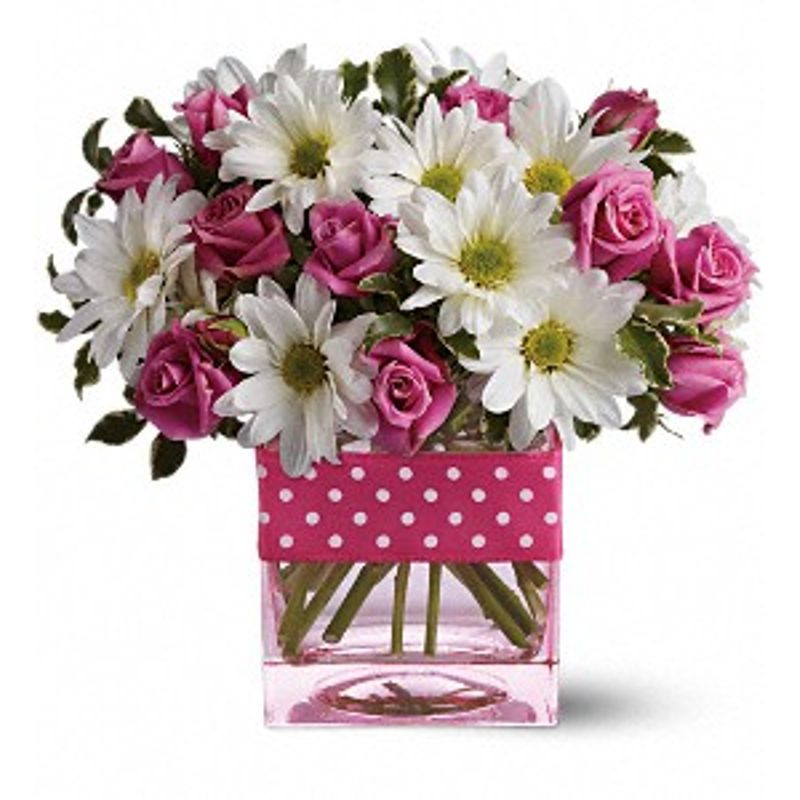 Teleflora S Polka Dots And Posies Crown Florals