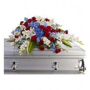 Sympathy and funeral flowers for the casket homewood il florist distinguished service casket spray in homewood il homewood florist mightylinksfo
