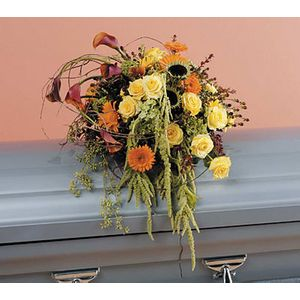 Sympathy And Funeral Flowers For The Casket Flamingo Floral