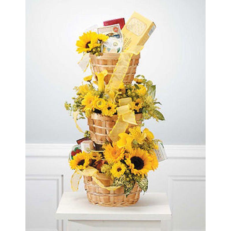 Stacked Baskets Natasha Maes Heavenly Designs Floral Boutique
