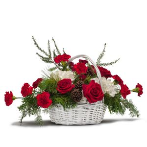 Holiday Basket Bouquet In Indiana Pa Flower Gallery