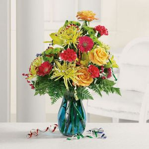 Birthday Stems And Streamers in Starkville MS, Fleur de Lis Flowers and Gifts