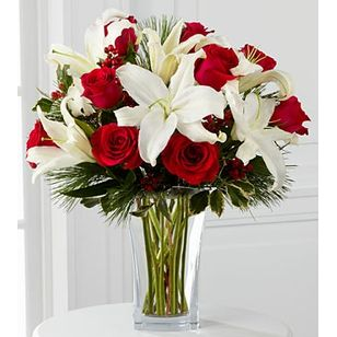 FTDR Holiday Wishes BouquetTM Birthday Funeral Flower Arrangements