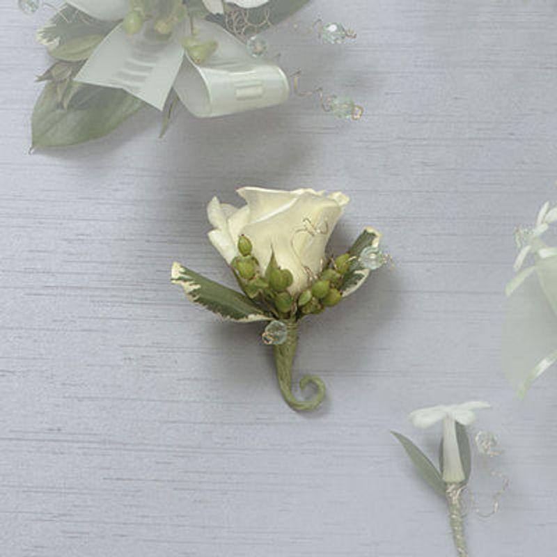 White Rose Boutonniere Backyard Garden Florist Roseboro Nc